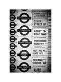 Antique Enamelled Signs - Subway Station Signs - Wall Signs - Notting Hill - London - UK - England Photographic Print by Philippe Hugonnard