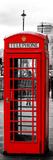 Red Telephone Booths - London - UK - England - United Kingdom - Europe - Door Poster Impressão fotográfica por Philippe Hugonnard