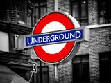 The Underground - Subway Station Sign - London - UK - England - United Kingdom - Europe Fotografie-Druck von Philippe Hugonnard