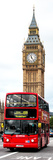 London Red Bus and Big Ben - London - UK - England - United Kingdom - Door Poster Photographic Print by Philippe Hugonnard