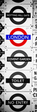 Antique Enamelled Signs - Subway Station Signs - Wall Signs - Notting Hill - London - Door Poster Fotografie-Druck von Philippe Hugonnard