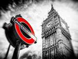 Westminster Underground Sign - Subway Station Sign - Big Ben - City of London - UK - England Reproduction photographique par Philippe Hugonnard