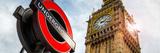 Westminster Underground Sign - Subway Station Sign - Big Ben - City of London - UK - England Fotografie-Druck von Philippe Hugonnard