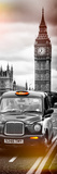London Taxi and Big Ben - London - UK - England - United Kingdom - Europe - Door Poster Stampa fotografica di Philippe Hugonnard