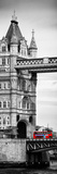 Tower Bridge with Red Bus in London - City of London - UK - England - United Kingdom - Door Poster Fotoprint av Philippe Hugonnard