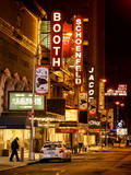 The Booth Theatre at Broadway - Urban Street Scene by Night with a NYPD Police Car - Manhattan Reproduction photographique par Philippe Hugonnard