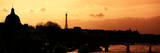 Landscape View of the River Seine and the Eiffel Tower at Sunset - Paris - France - Europe Fotografisk trykk av Philippe Hugonnard