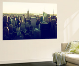 Wall Mural - Manhattan Skyline with the Empire State Building - New York Veggmaleri av Philippe Hugonnard