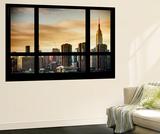 Wall Mural - Window View - Landscape of Manhattan with the Chrysler Building - New York Veggmaleri av Philippe Hugonnard