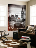 Wall Mural - London Taxi and Big Ben - Black Cabs - London - UK - England - Europe Vægplakat af Philippe Hugonnard
