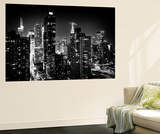 Wall Mural - Manhattan at Night - Times Square and Empire State Building - New York City Poster géant par Philippe Hugonnard