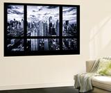 Wall Mural - Window View - Times Square and 42nd Street at Nightfall - Manhattan - New York Veggmaleri av Philippe Hugonnard
