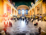 Instants of NY Series - Grand Central Terminal at 42nd Street and Park Avenue in Midtown Manhattan Photographic Print by Philippe Hugonnard