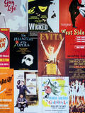 NYC Street Art - Patchwork of Old Posters of Broadway Musicals - Times Square - Manhattan Reproduction photographique Premium par Philippe Hugonnard
