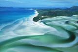 Australia Whitehaven Beach, Whitsunday Island Fotografisk tryk