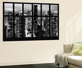 Wall Mural - Window View - Times Square and 42nd Street by Night - Manhattan - New York Mural por Philippe Hugonnard