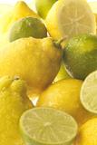 Lemons and Limes Close-Up Valokuvavedos