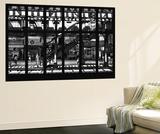 Wall Mural - Window View - Subway Station - Williamburg of Brooklyn - New York Poster géant par Philippe Hugonnard