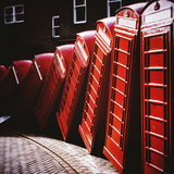 Old Fashioned Red Phone Boxes Fotografisk tryk af Craig Roberts