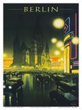 Deutschland (Germany), Kaiser Wilhelm Memorial Church, Berlin, Deutsche Reichsbahn Poster tekijänä Jupp Wiertz