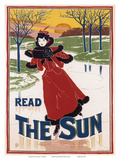 "Read ""The Sun"", Art Nouveau, La Belle Époque Plakater av Louis John Rhead"