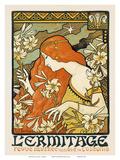 L'ermitage, Art Nouveau, La Belle Époque Print by Paul Berthon