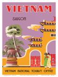 Vietnam, Saigon (Ho Chi Minh City), Vietnam National Tourist Office Poster