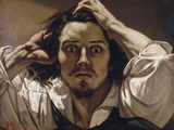 The Desperate Man (Self-Portrait) by Gustave Courbet Fotografisk tryk