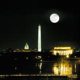Washington DC Skyline and Monuments at Night Photographic Print by Hisham Ibrahim
