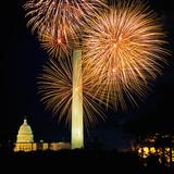 Fourth of July Fireworks, Washington DC Photographic Print by Hisham Ibrahim