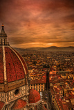 Florence Duomo at Sunset Fotoprint av McDonald P. Mirabile