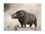 The Woolly Rhinoceros Is an Extinct Species from the Pleistocene Epoch Giclée-Premiumdruck