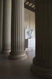 Usa, Washington Dc, Lincoln Memorial between Columns Photographic Print by  Fotog