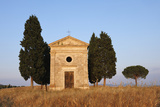 Chapel of Vitaleta with Cypress Trees near Sunset. Photographic Print by Martin Ruegner
