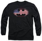 Long Sleeve: Batman - American Flag Oval Long Sleeves