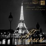 Paris la nuit Art par Kate Carrigan