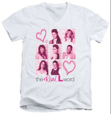 The Real L Word - Hearts V-Neck V-Necks