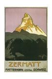 Zermatt, Matterhorn, Switzerland Gicléedruk van Found Image Press