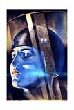 Poster for Fritz Lang's Film Metropolis Giclee-trykk