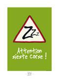 Broutch - Attention, sieste corse Pôsters por Sylvain Bichicchi