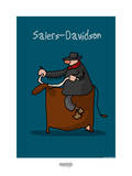 I Lov'ergne - Salers-Davidson Posters por Sylvain Bichicchi