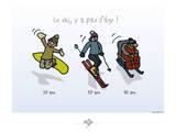 Touchouss - Le ski, il n'y a pas d'âge Affiches par Sylvain Bichicchi