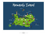 Heula. Normandy island Art par Sylvain Bichicchi