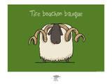 Pays B. - Tire-bouchon basque Affiches par Sylvain Bichicchi