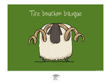 Pays B. - Tire-bouchon basque Posters por Sylvain Bichicchi