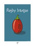 Pays B. - Rugby basque Posters por Sylvain Bichicchi