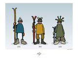 Touchouss - La mode des sports d'hiver Affiches par Sylvain Bichicchi