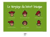 Pays B. - Langage du béret basque Poster par Sylvain Bichicchi