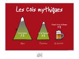 Fondus de montagne - Cols mythiques Posters por Sylvain Bichicchi