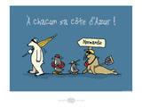 Heula. Chacun sa côte d'Azur Posters par Sylvain Bichicchi